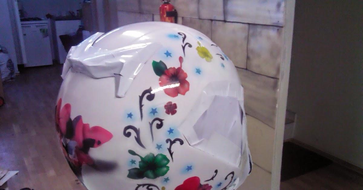 kask boyama airbrush kask kaplama motosiklet boyama