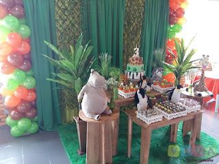 Decoração festa infantil Madagascar