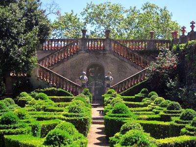 Jardin de los Bojes en el Parc del Laberint de Barcelona