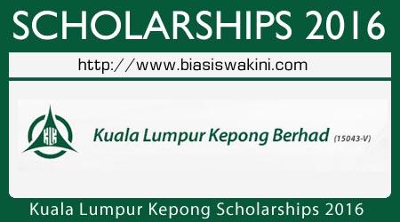 Kuala Lumpur Kepong Scholarships 2016