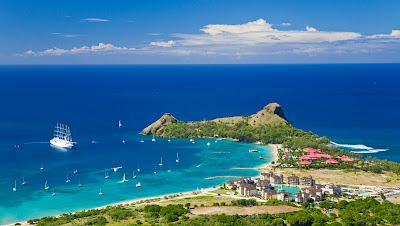 Sainte Lucie vue aérienne