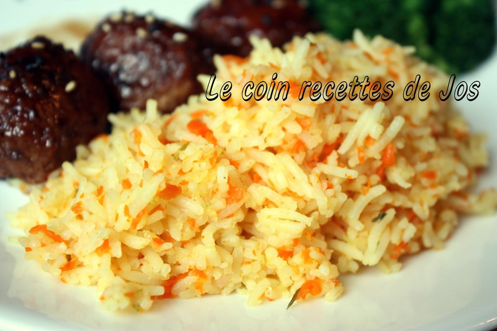 le coin recettes de jos riz basmati carotte et lime. Black Bedroom Furniture Sets. Home Design Ideas