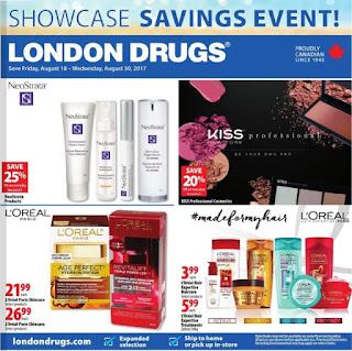 London Drugs Flyer August 18 – 30, 2017