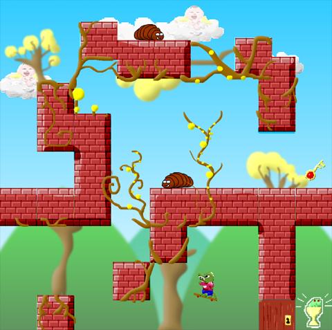 Darwin Gater platform one-switch one-button video game.