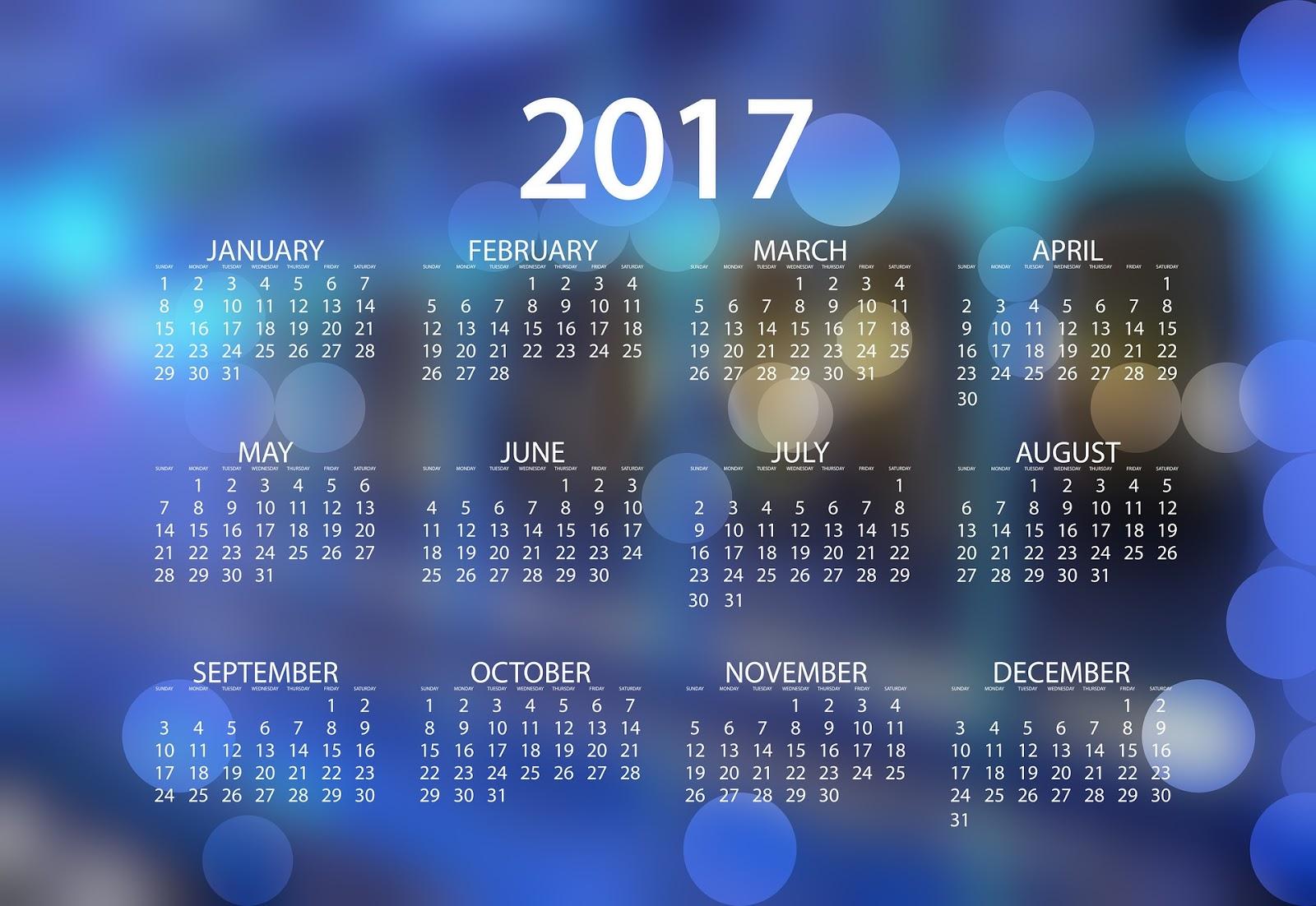 blue new year screensavers