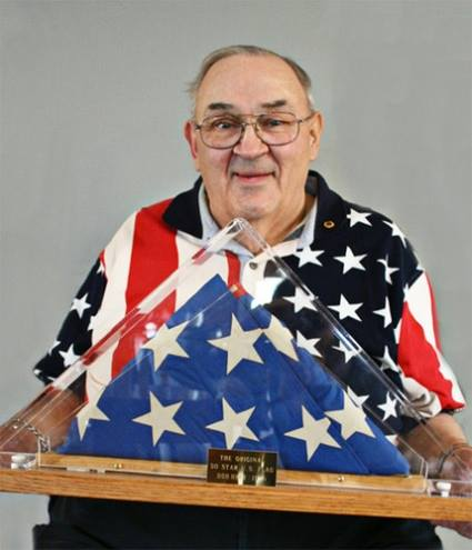 Robert G. Heft is the one who redesigned the American flag — as a 16 year old in 1958 — to recognise and include Alaska and Hawaii