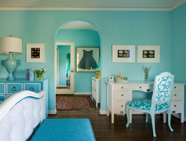 My Mini House of Style: Tiffany Blue in the Bedroom!