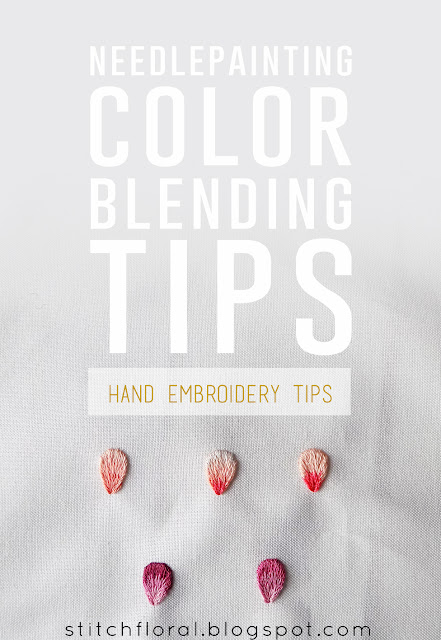 Needlepainting color blending tips