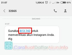 cara verifikasi akun instagram lewat no hp