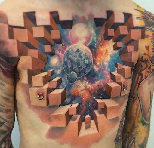 3d exclusivo da tatuagem ideias para os homens no peito