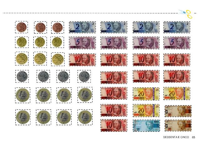 Resultado de imagem para cédulas e moedas para imprimir