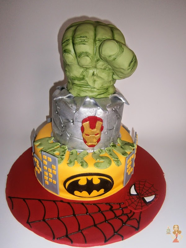 Make me a cake Hulks fist cake tutorial