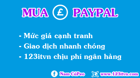 Dịch vụ mua bảng Anh trong paypal