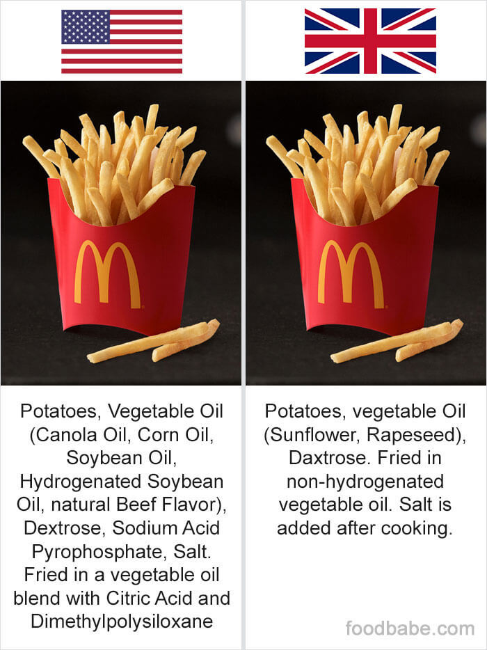 This Woman Shows The Disturbing Differences Between US And UK Products