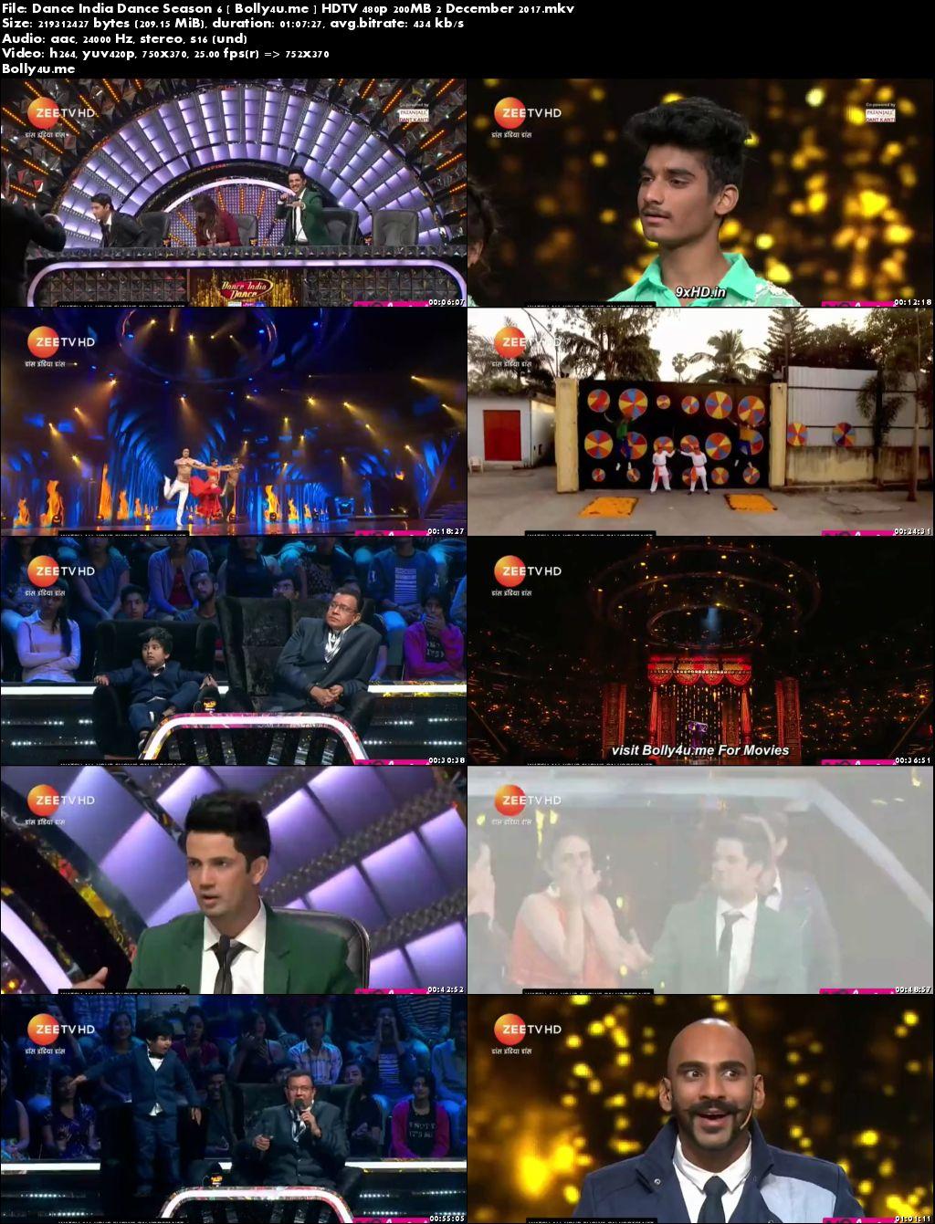 Dance India Dance HDTV 480p 200MB 02 December 2017 Download