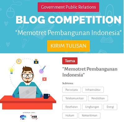 Tulisan para juara lomba blog dengan tema Potret Pembangunan Indonesia