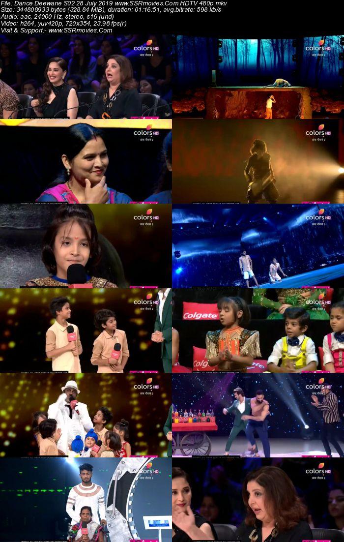 Dance Deewane S02 28 July 2019 HDTV 480p Full Show Download