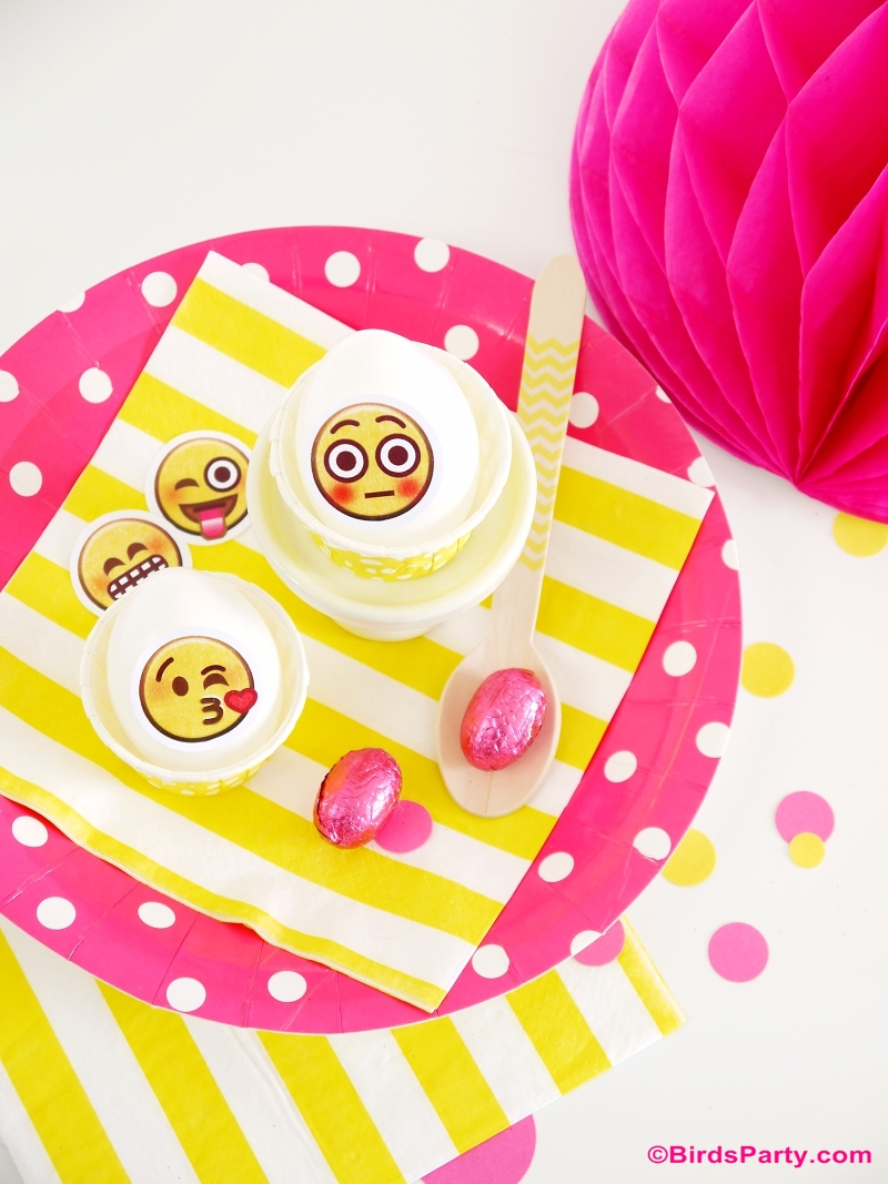 Emoji Party Ideas - via BirdsParty.com