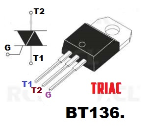 triac, triac bt136,