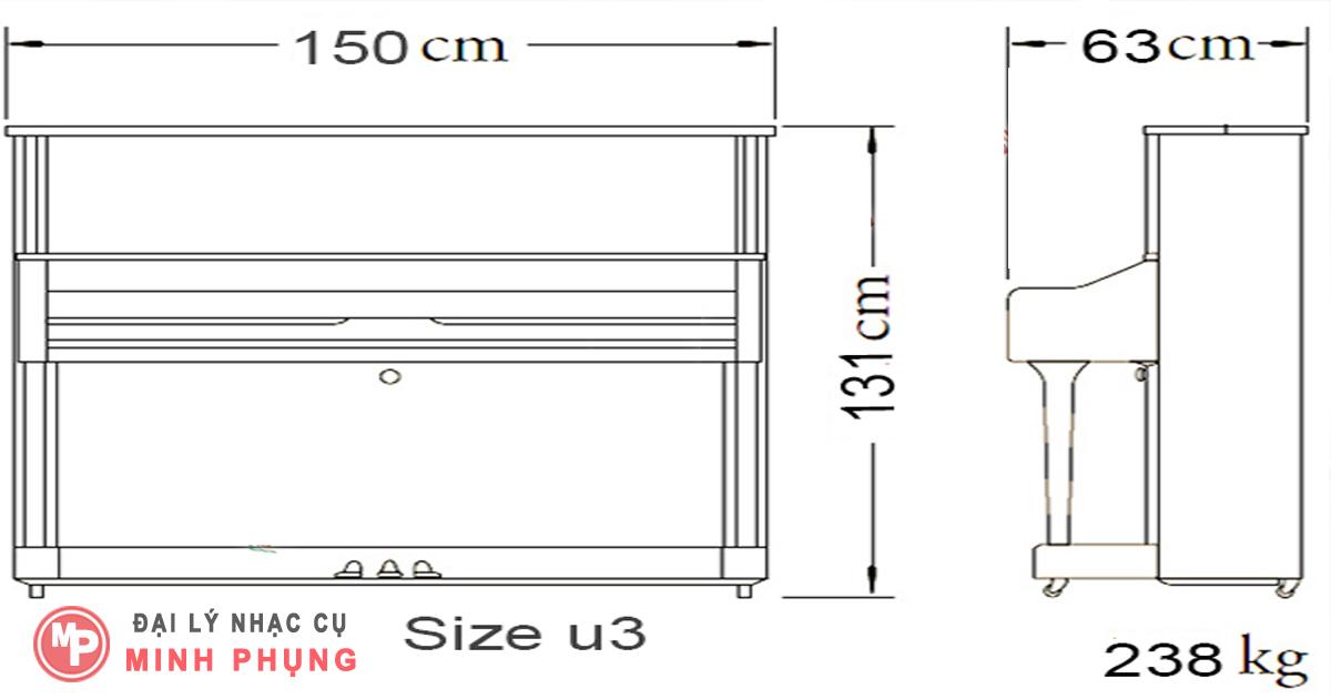 Nơi bán Đàn Upright Piano Yamaha U1PE (U1 PE) - Piano cơ giá rẻ