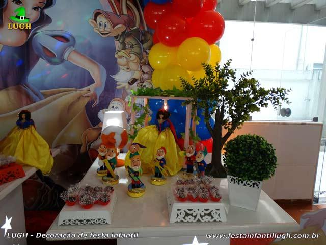 Decoração de festa Branca de Neve - Aniversário infantil