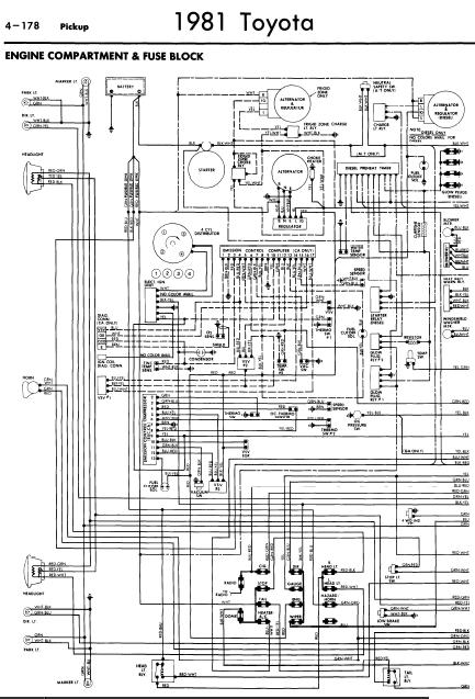repairmanuals: Toyota Pickup 1981 Wiring Diagrams
