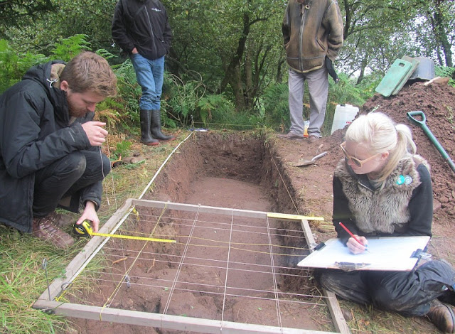 5,000 year old Prehistoric art panel re-excavated in Scotland