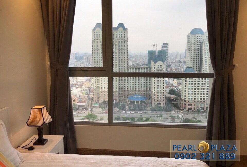 Phòng ngủ tại căn hộ Pearl Plaza view chung cư The Manor