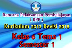 Perangkat RPP Kelas 6 Tema 1 Semester 1 K13 Revisi 2018