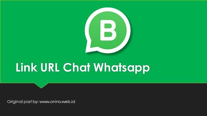 cara termudah membuat link URL whatsapp langsung chat