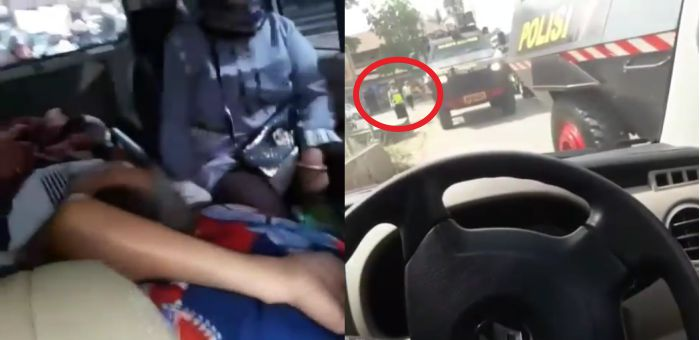 Astaghfirullah, Video Ambulans Membawa Orang Sakit Mengalah Demi Iring-iringan Polisi