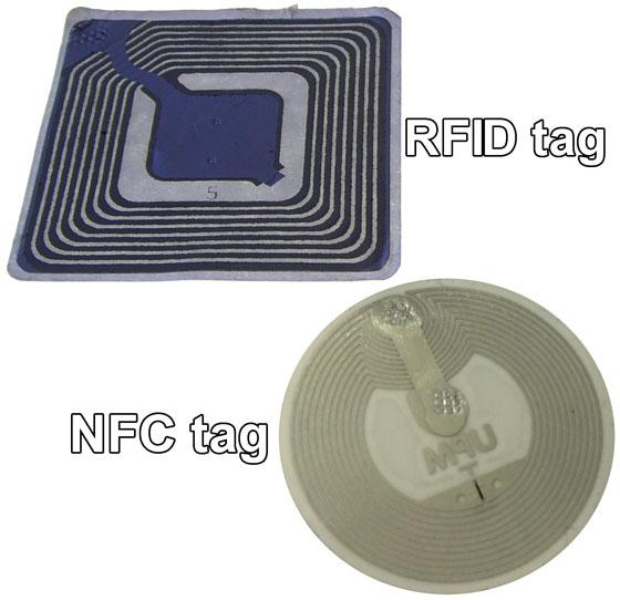 RFID tag vs NFC tag