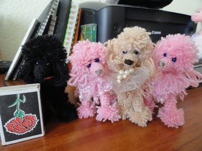 Caniches juguetes tejidos amigurumis