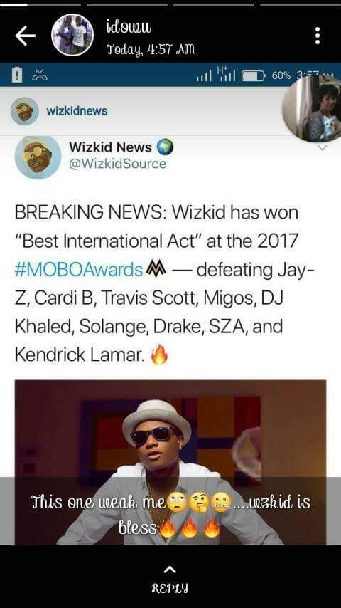 Formal  President,Goodluck  Jonathan & Ben Murray Bruce reacted to Wizkid(MOBO award,Best international act)