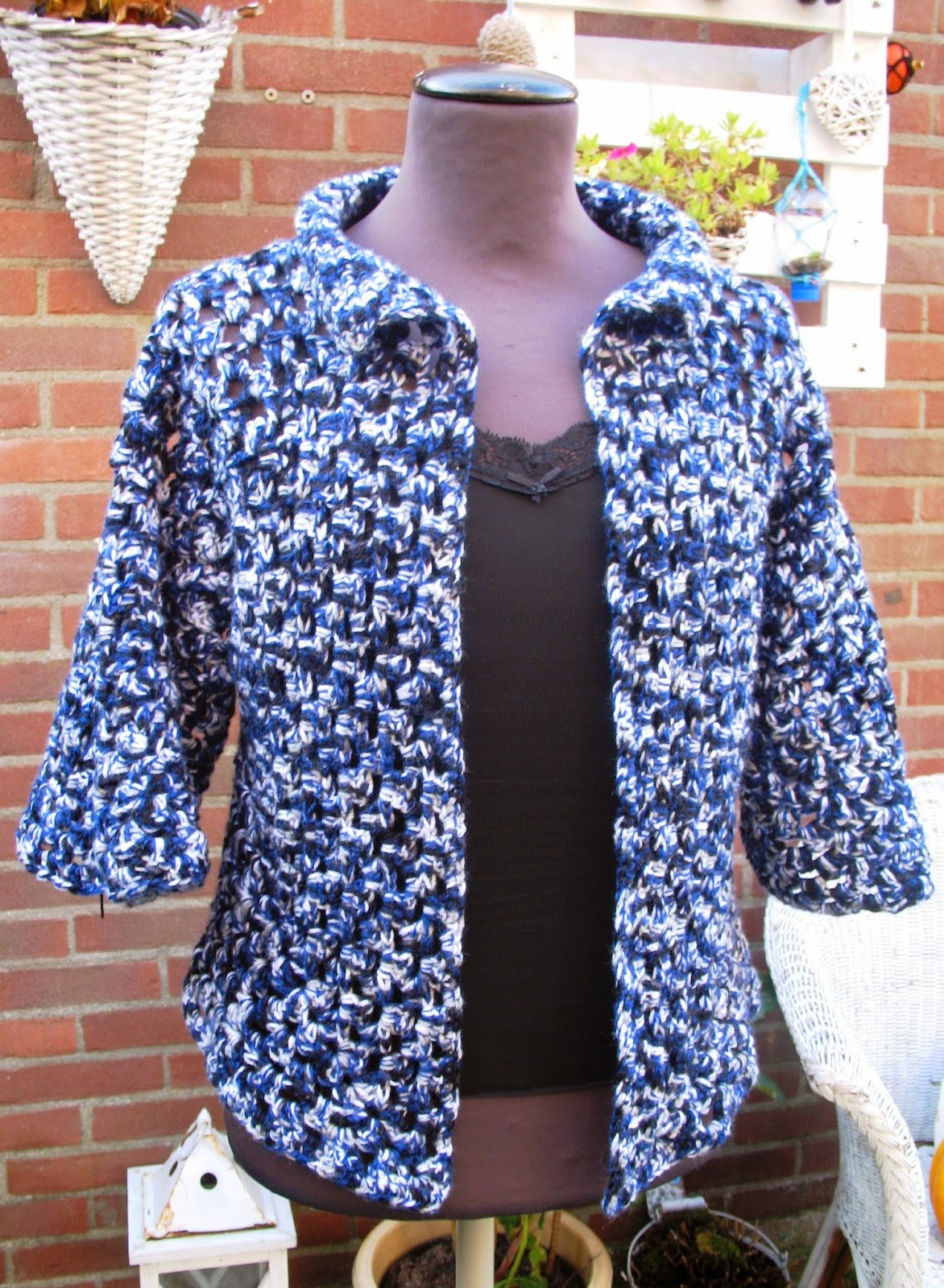 Atelier 39 de kleine haven 39 gehaakt granny square hexagon vest - Patroon effent ...