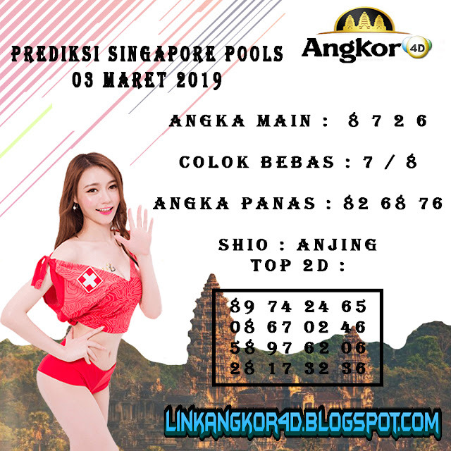 PREDIKSI SINGAPORE POOLS 03 MARET 2019