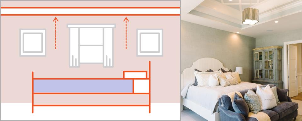 0c2cd91fb استخدام لون فاتح في حدود غرف النوم الصغيرة لجعلها تبدو اكبر (عبر)