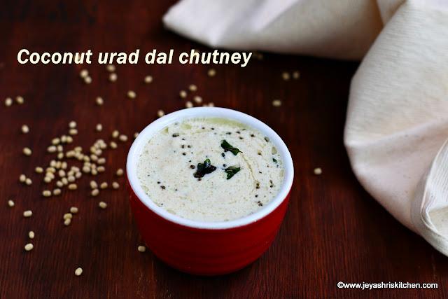 Coconut urad chutney