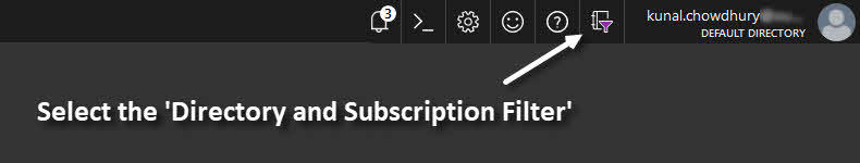 Microsoft Azure Global Directory and Subscription Filter