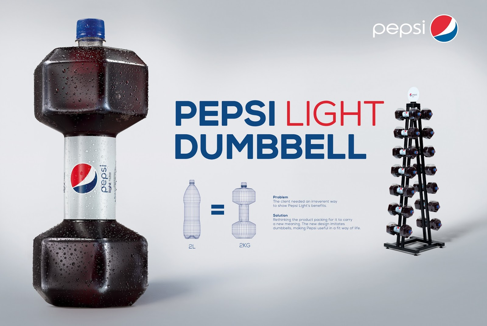 Pepsi Light Dumbbell on Packaging of the World - Creative Package ...