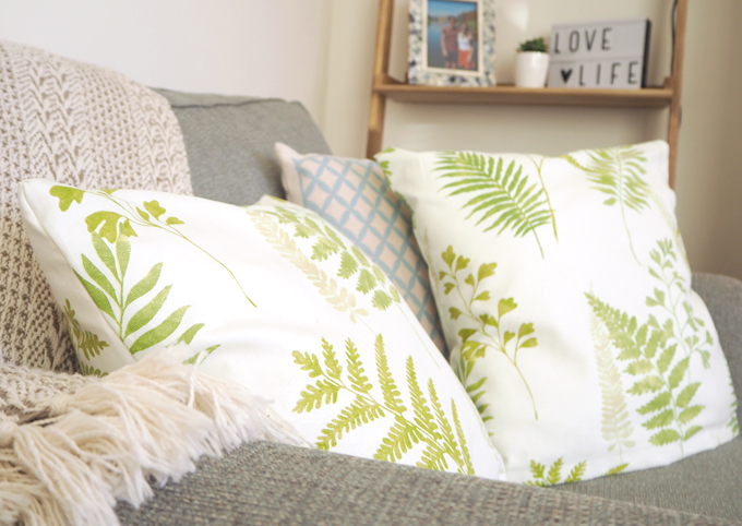 DIY Interiors How to make a botanical cushion lifestyle shot 3