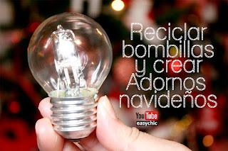 ideas para reciclar bombillas adornos de navidad reciclados