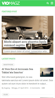 Review Template VioMagz Karya Mas Sugeng yang Menggemparkan Belantara Internet