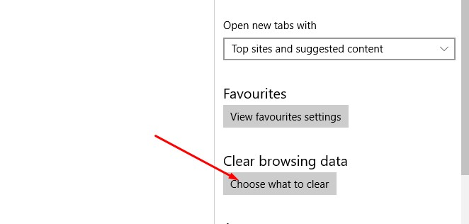 Clear browsing data