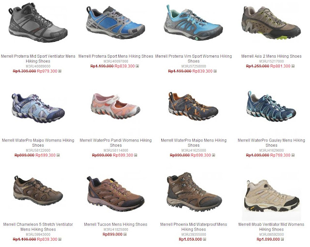 Daftar Harga Sepatu Merrel Original Terbaru