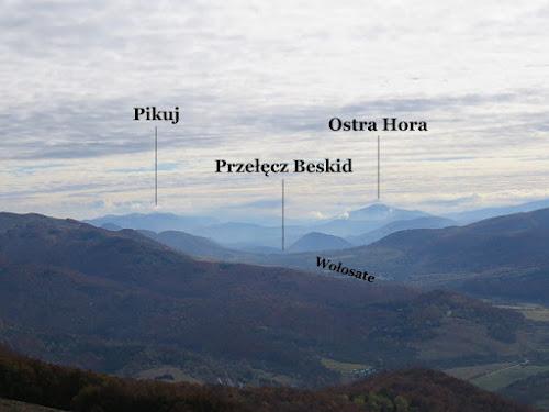 W stronę Przełęczy Beskid na południowy wschód.