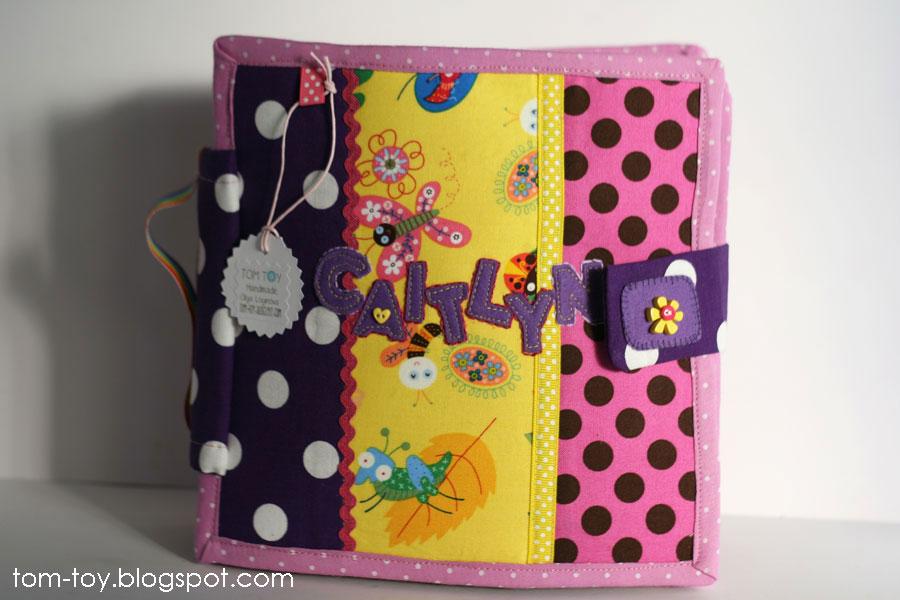 Quiet book for Caitlyn,girls busy book. Развивающая книжка для девочки