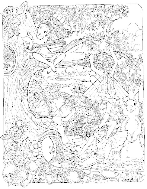 Fairy Coloring Page  Lovely And Intricate  Will Take Them Hours To Colour  In