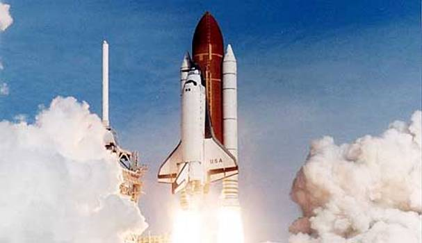 Space Shuttle Columbia Departs on the Last Mission before it is Destroyed
