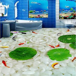dekor lantai kamar mandi